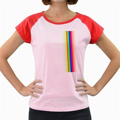 Rainbow Side Background Women s Cap Sleeve T Shirt