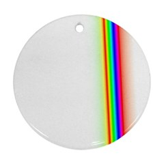 Rainbow Side Background Round Ornament (two Sides)