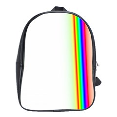 Rainbow Side Background School Bags(large)  by Nexatart