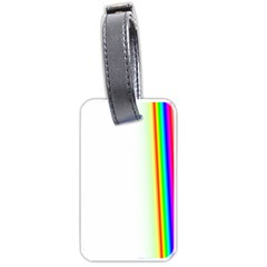 Rainbow Side Background Luggage Tags (one Side)
