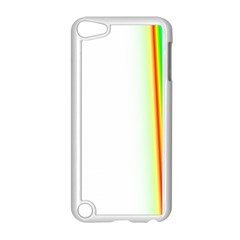 Rainbow Side Background Apple Ipod Touch 5 Case (white)