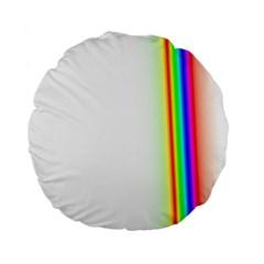 Rainbow Side Background Standard 15  Premium Round Cushions
