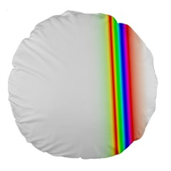 Rainbow Side Background Large 18  Premium Round Cushions by Nexatart