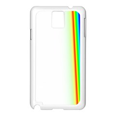 Rainbow Side Background Samsung Galaxy Note 3 N9005 Case (white)