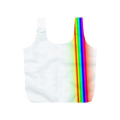 Rainbow Side Background Full Print Recycle Bags (s)