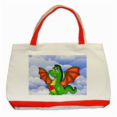 Dragon Heart Kids Love Cute Classic Tote Bag (red)