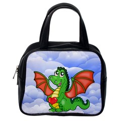 Dragon Heart Kids Love Cute Classic Handbags (one Side) by Nexatart