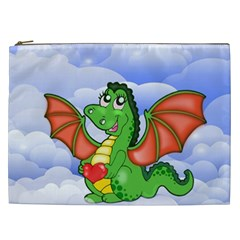Dragon Heart Kids Love Cute Cosmetic Bag (xxl)  by Nexatart