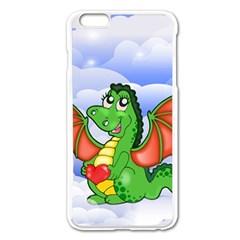 Dragon Heart Kids Love Cute Apple Iphone 6 Plus/6s Plus Enamel White Case by Nexatart