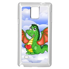 Dragon Heart Kids Love Cute Samsung Galaxy Note 4 Case (white)