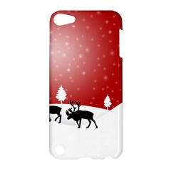 Reindeer In Snow Apple Ipod Touch 5 Hardshell Case
