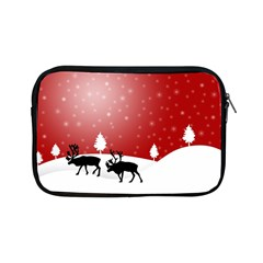 Reindeer In Snow Apple Ipad Mini Zipper Cases by Nexatart