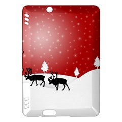 Reindeer In Snow Kindle Fire HDX Hardshell Case by Nexatart
