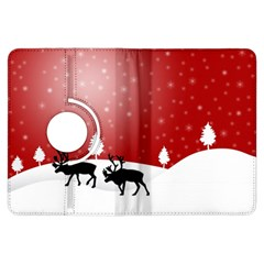 Reindeer In Snow Kindle Fire Hdx Flip 360 Case by Nexatart