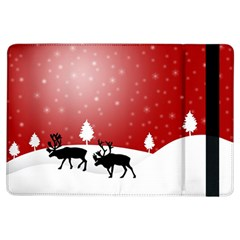 Reindeer In Snow iPad Air Flip by Nexatart