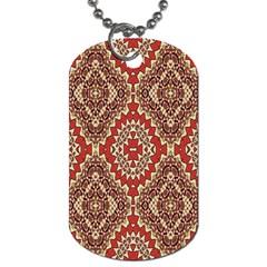 Seamless Carpet Pattern Dog Tag (one Side) by Nexatart