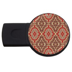 Seamless Carpet Pattern USB Flash Drive Round (4 GB) by Nexatart