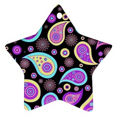 Paisley Pattern Background Colorful Ornament (star) by Nexatart
