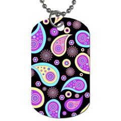 Paisley Pattern Background Colorful Dog Tag (one Side) by Nexatart
