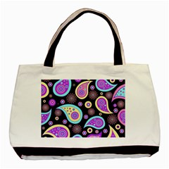 Paisley Pattern Background Colorful Basic Tote Bag (two Sides)