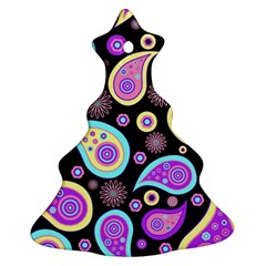 Paisley Pattern Background Colorful Ornament (Christmas Tree)  by Nexatart