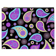 Paisley Pattern Background Colorful Cosmetic Bag (xxxl)