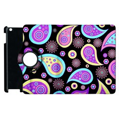 Paisley Pattern Background Colorful Apple Ipad 2 Flip 360 Case by Nexatart