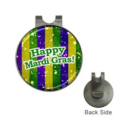 Happy Mardi Gras Poster Hat Clips With Golf Markers by dflcprints