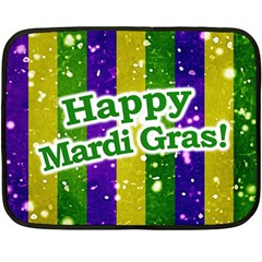 Happy Mardi Gras Poster Fleece Blanket (mini) by dflcprints