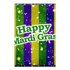 Happy Mardi Gras Poster Shower Curtain 48  X 72  (small)  by dflcprints
