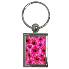 Gerbera Flower Nature Pink Blosso Key Chains (rectangle)