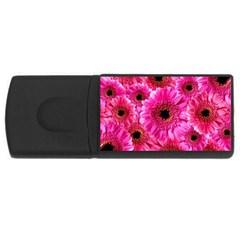 Gerbera Flower Nature Pink Blosso Usb Flash Drive Rectangular (4 Gb)