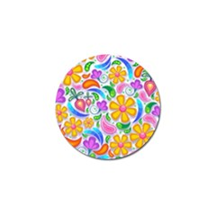 Floral Paisley Background Flower Golf Ball Marker by Nexatart