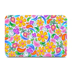 Floral Paisley Background Flower Plate Mats by Nexatart