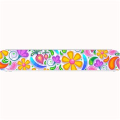 Floral Paisley Background Flower Small Bar Mats by Nexatart