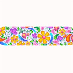 Floral Paisley Background Flower Large Bar Mats by Nexatart