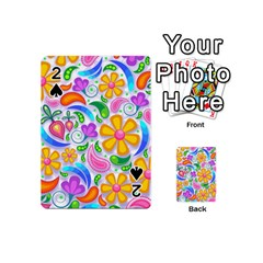 Floral Paisley Background Flower Playing Cards 54 (mini)  by Nexatart