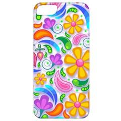 Floral Paisley Background Flower Apple Iphone 5 Classic Hardshell Case by Nexatart