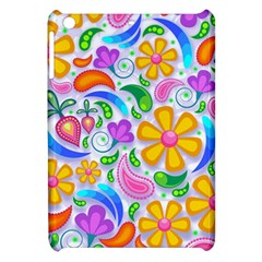 Floral Paisley Background Flower Apple Ipad Mini Hardshell Case by Nexatart