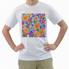 Floral Paisley Background Flower Men s T Shirt (white)