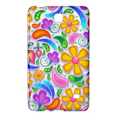 Floral Paisley Background Flower Samsung Galaxy Tab 4 (7 ) Hardshell Case  by Nexatart