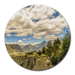 Valley And Andes Range Mountains Latacunga Ecuador Round Mousepads by dflcprints