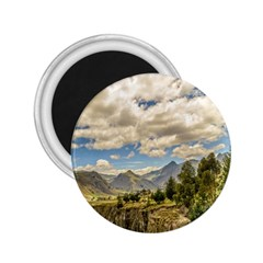 Valley And Andes Range Mountains Latacunga Ecuador 2 25  Magnets by dflcprints
