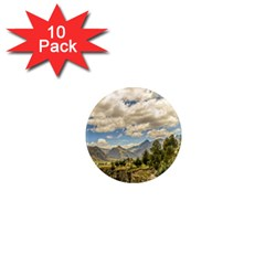 Valley And Andes Range Mountains Latacunga Ecuador 1  Mini Magnet (10 Pack)  by dflcprints