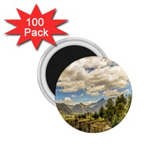 Valley And Andes Range Mountains Latacunga Ecuador 1 75  Magnets (100 Pack)  by dflcprints