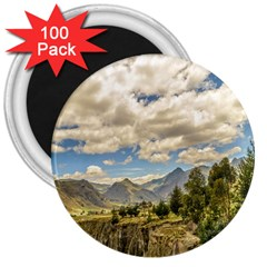 Valley And Andes Range Mountains Latacunga Ecuador 3  Magnets (100 Pack) by dflcprints