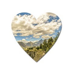 Valley And Andes Range Mountains Latacunga Ecuador Heart Magnet by dflcprints