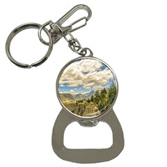 Valley And Andes Range Mountains Latacunga Ecuador Button Necklaces by dflcprints