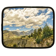 Valley And Andes Range Mountains Latacunga Ecuador Netbook Case (large) by dflcprints