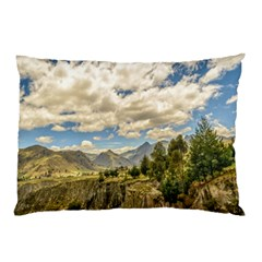 Valley And Andes Range Mountains Latacunga Ecuador Pillow Case (two Sides) by dflcprints